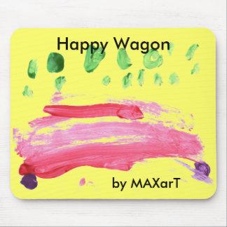 Carro feliz por MAXarT Alfombrilla De Raton