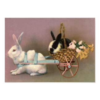 """Carro floral de las flores de cesta de Pascua del Invitación 5"""" X 7"""""""