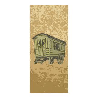 """Carro gitano de la caravana invitación 4"""" x 9.25"""""""