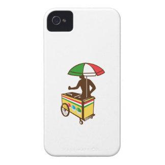 Carro italiano del empuje del hielo retro Case-Mate iPhone 4 cárcasas