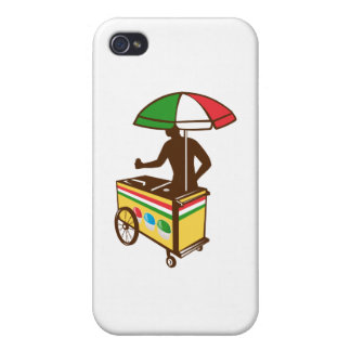 Carro italiano del empuje del hielo retro iPhone 4/4S carcasas