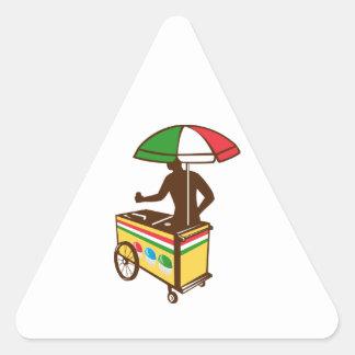 Carro italiano del empuje del hielo retro calcomanía trianguladas personalizadas