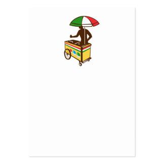Carro italiano del empuje del hielo retro tarjeta personal