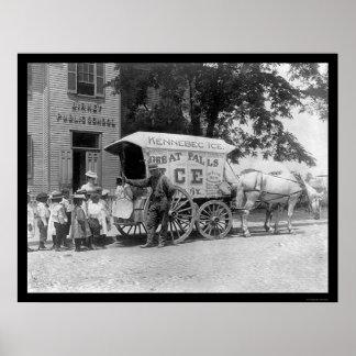 Carro Kennebec 1899 del hielo Posters