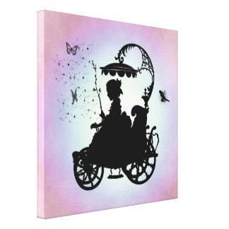 Carro mágico del vintage impresión en lienzo