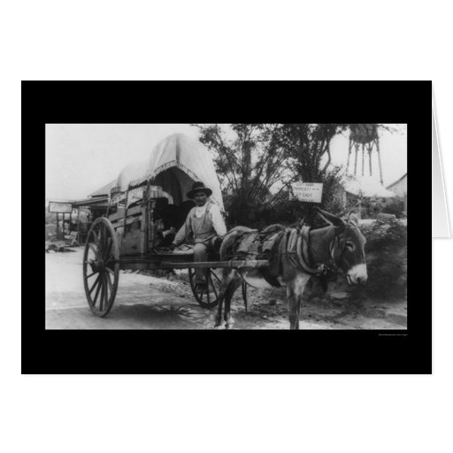 Carro mexicano 1912 de la emigración tarjeta de felicitación