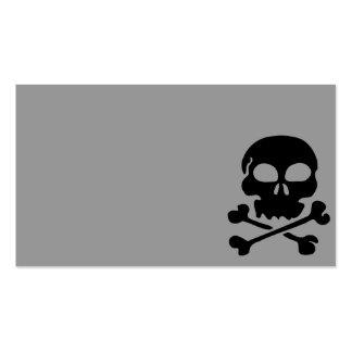 carro negro principal del ser humano del cráneo de tarjetas de visita