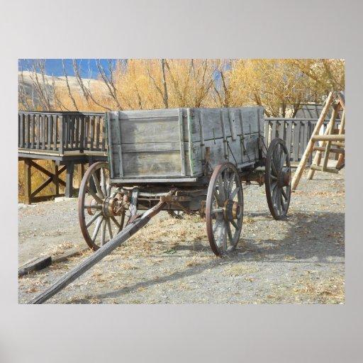 Carro pionero del oeste viejo