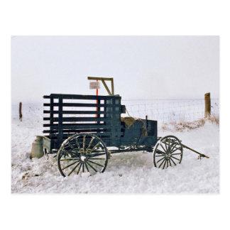 Carro-Postal de la leche de Amish