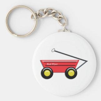 Carro rojo del juguete llavero personalizado