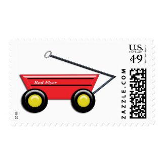 Carro rojo del juguete sello