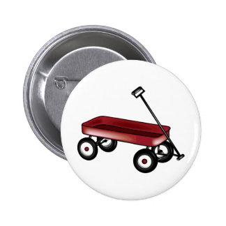 Carro rojo pin redondo 5 cm