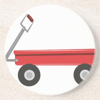 Carro rojo posavasos diseño