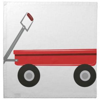 Carro rojo servilleta imprimida