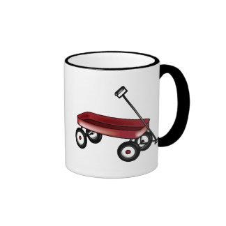 Carro rojo taza