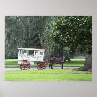 Carro romano del caramelo posters