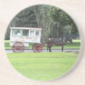 Carro romano del caramelo posavasos diseño