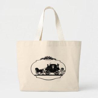 Carro romántico Sillhouette Bolsa Tela Grande