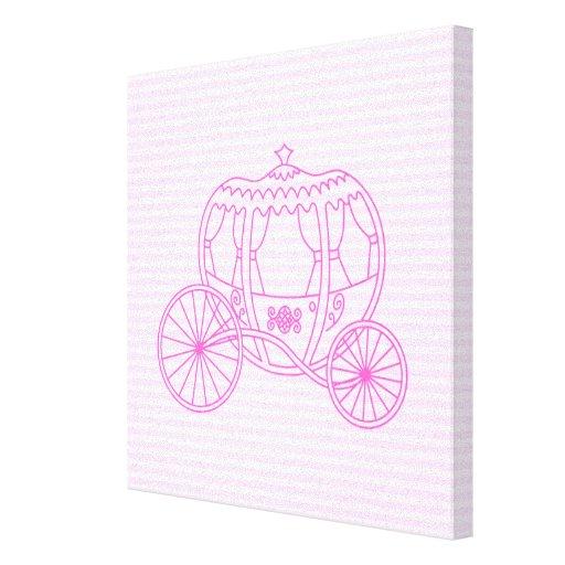 Carro rosado del cuento de hadas lona estirada galerias