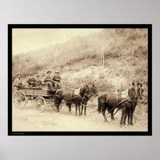 Carro SD 1890 del tesoro de Wells Fargo Deadwood Posters
