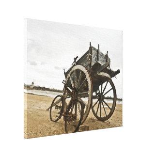 Carro siciliano del vintage impresión en lienzo estirada