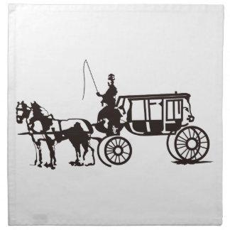 Carro traído por caballo servilletas de papel