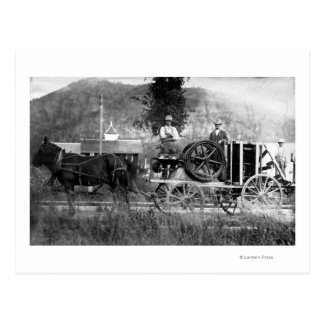 Carro traído por caballo tarjeta postal