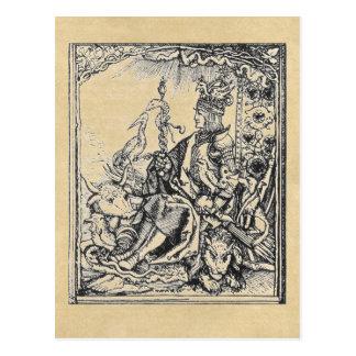 Carro triunfal de las postales de Maximiliano