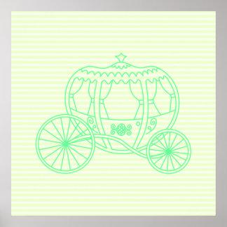 Carro verde del cuento de hadas impresiones