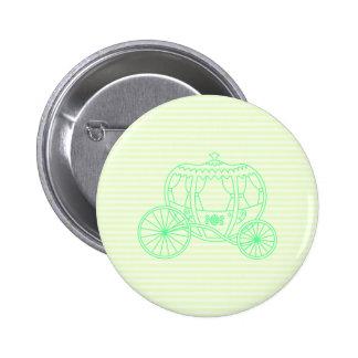 Carro verde del cuento de hadas pins