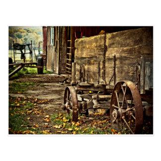 Carro viejo de Amish Postal