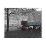 Carro viejo de la granja impresion de lienzo