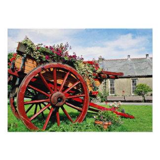 Carro viejo flores de Snowdonia Anuncios