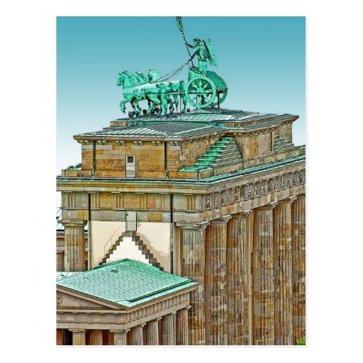 Carro y columnas, Berlín de la puerta de Postales