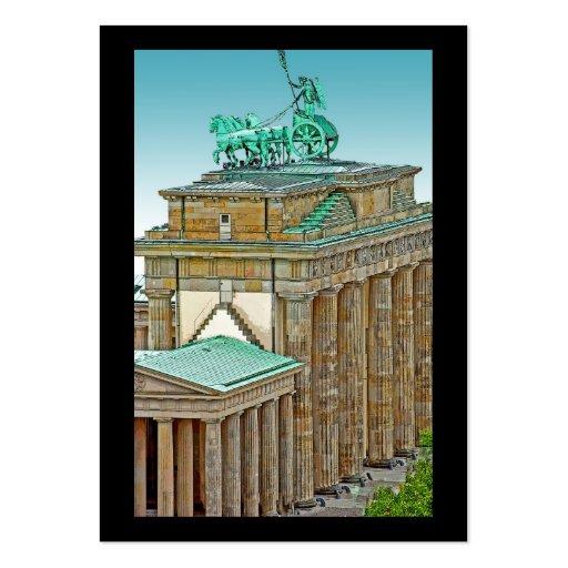 Carro y columnas, Berlín de la puerta de Tarjetas De Visita Grandes