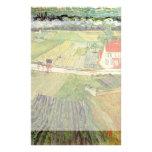 Carro y tren, arte del paisaje de Van Gogh del vin Papeleria De Diseño