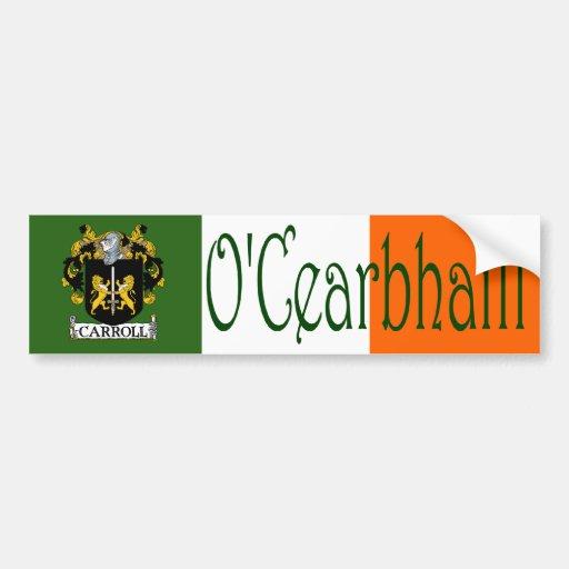 Carroll Clan Irish/English Bumper Sticker