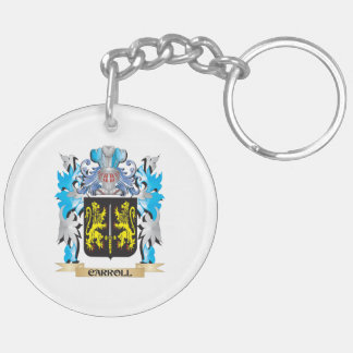 Carroll Coat of Arms - Family Crest Double-Sided Round Acrylic Keychain