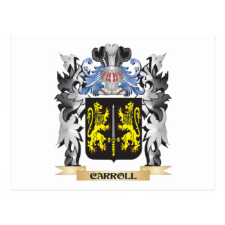 Carroll Coat of Arms - Family Crest Postcard