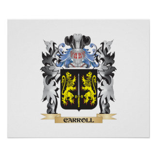Carroll Coat of Arms - Family Crest Poster