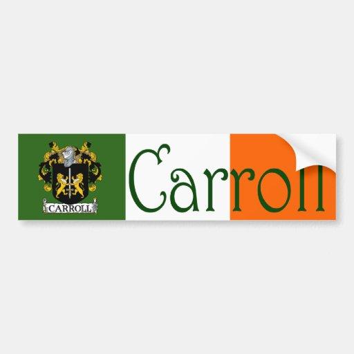 Carroll Coat of Arms Flag Bumper Sticker