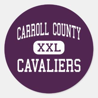 Carroll County - Cavaliers - High - Hillsville Round Sticker