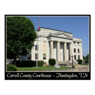 Carroll County Courthouse - Huntingdon, TN Postcard