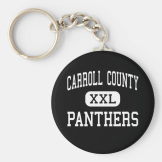 Carroll County - Panthers - High - Carrollton Basic Round Button Keychain