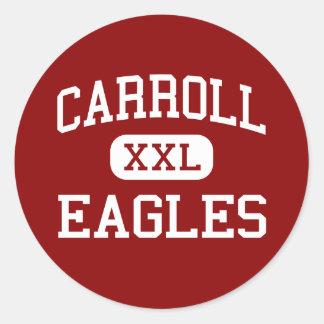 Carroll - Eagles - High School secundaria - Ozark Pegatina Redonda