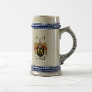CARROLL FAMILY CREST -  CARROLL COAT OF ARMS BEER STEIN