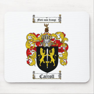 CARROLL FAMILY CREST -  CARROLL COAT OF ARMS MOUSE PAD