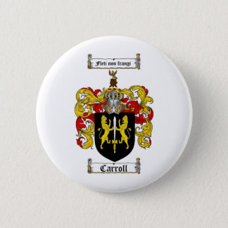 CARROLL FAMILY CREST -  CARROLL COAT OF ARMS PINBACK BUTTON