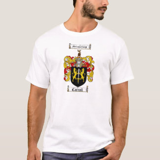 CARROLL FAMILY CREST -  CARROLL COAT OF ARMS T-Shirt