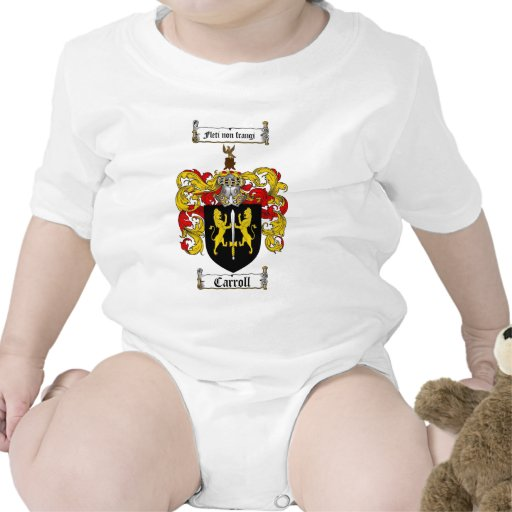 CARROLL FAMILY CREST -  CARROLL COAT OF ARMS BABY BODYSUITS